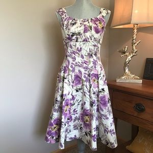 {Maggie London} Floral Sleeveless Fit/Flare Dress